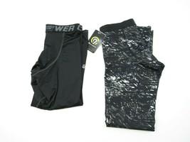 Lot 2 C9 Champion Boys L (12-14)Power Core Compression Pants Black Pattern - $18.76