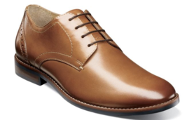 Nunn Bush Fifth Ward Flex Plain Toe Oxford Shoes Cognac  Leather 84815-221 - $84.60