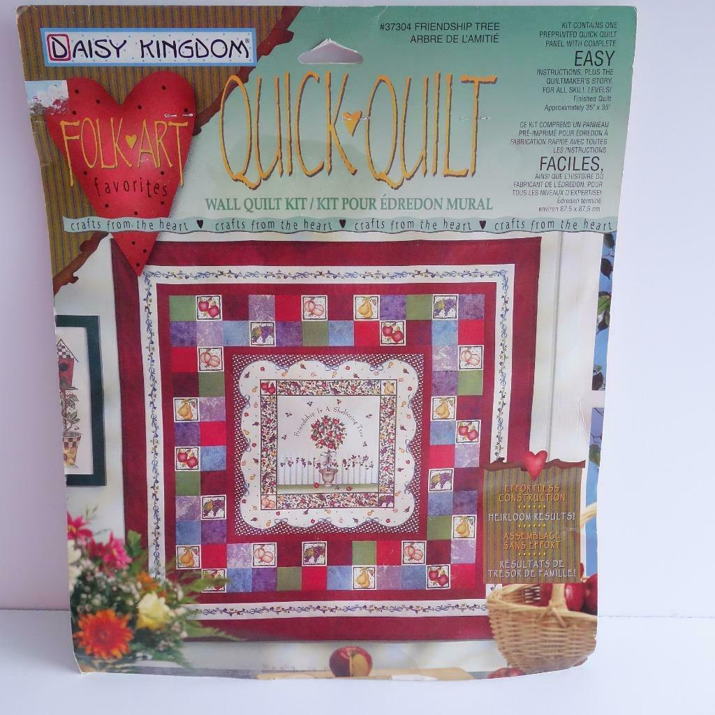 Primary image for Vintage Daisy Kingdom Folk Art Quick Quilt Friendship Tree Wall Quilt Kit