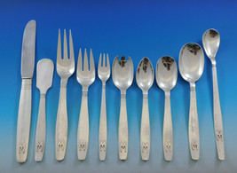 Swedish Modern by Allan Adler Sterling Silver Flatware Set 124 pcs Monog... - $18,315.00