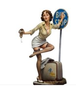 Poker Girl Bus Stop 80mm 1/22 Resin Model Kit Free Shipping - $28.59