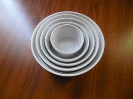 5 white ceramic bowls, white serving dishes, porcelain bowls - £45.49 GBP