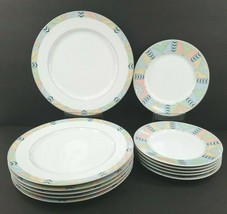 Mikasa Desert Crest 6) Dinner 6) Salad Plates Vintage M5121 Vintage China Set - $138.47