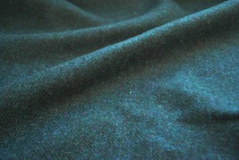 tweed matériel par le mètre uni vert - TISSU VENDU PAR coudées