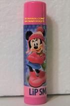 Lip Smacker Cranberry Jelly Minnie Disney Lip Balm Gloss Stick Mistletoe Kisses - $3.50