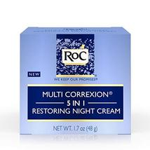 RoC Multi Correxion 5 in 1 Restoring Anti-Aging Facial Night Cream, 1.7 ... - $16.95