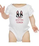 Boston Terror Terrier Baby White Bodysuit - $13.99
