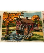 Dimensions Vintage Long Stitch Needle Point 2255 The Old Mill 1984 Wool ... - $39.99