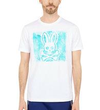 Men's Psycho Bunny Short Sleeve Haley Graphic Tee Skull Logo White T-Shirt image 4