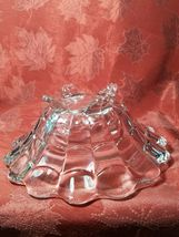 """VINTAGE  American Four Footed Glass Bowl w Flared Top Edge 10""""x4"""" image 5"""