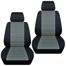 Front set car seat covers fits 2015-2020 Chevy Colorado    black and steel gray - $72.99