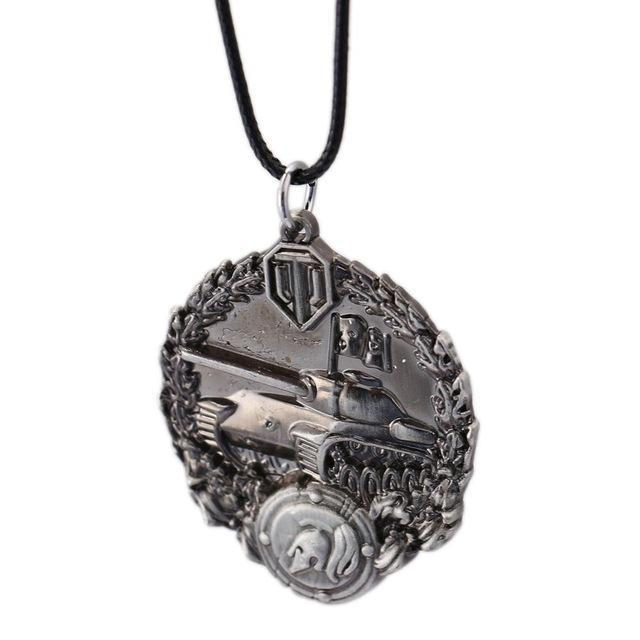 Word of Tanks Unisex Pendant / Necklace with Chain - Gaming, 3 Colour Variants