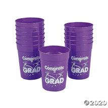 Purple Congrats Grad Plastic Cups - $11.50