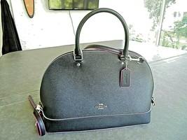 Coach Sierra Mini Satchel Black Crossgrain Lavender Edges NEW! No. D1781-13000 - $79.20