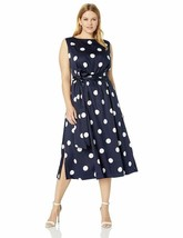 Anne Klein Women'S Size Plus Midi Dress With Attached Sash - $73.85+