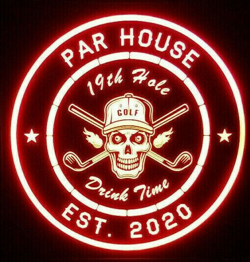 Primary image for Custom Golf LED Sign Personalized, Home bar pub Sign, Lighted Sign