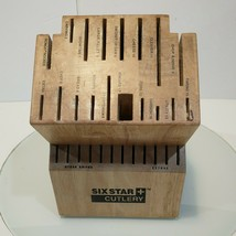 Six Star Cutlery Ronco 30 Slot Wooden Knife Block - $29.95