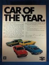 Vintage Magazine Ad Print Design Advertising Chevrolet Vega - $12.78