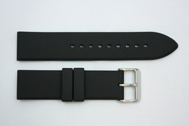 24mm Plain Black Rubber Watch BAND Strap Compatible FITS Luminox S/S Buckle - $19.75