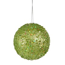 Vickerman Green Apple Holographic Glitter Drenched Christmas Ball Orname... - $4.69