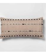 Black And Natural Lumbar Throw Pillow - Opalhouse Set of 2 Brand New  - $66.92