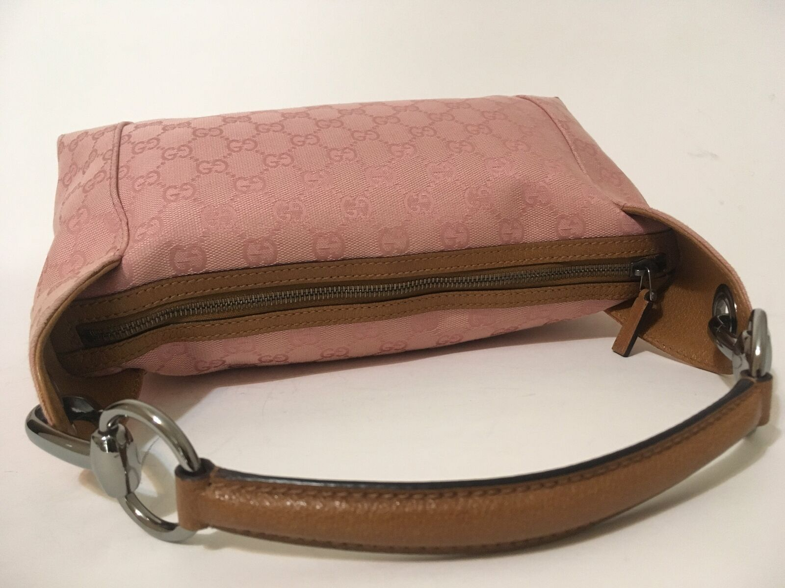 Gucci Monogram Canvas Shoulder Bag Pink