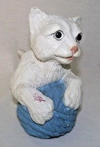 Cat Kitten Universal Statuary White Yarn Decor Indoor Outdoor Vtg Eyes R... - $46.52