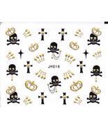 Nail Art 3D Decal Stickers Skull Crown Cross Halloween - $6.44