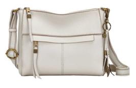 The Sak NWT $149 Stone Ivory Shoulder Hand Bag Medium Top Zip Tassel Gol... - $84.15