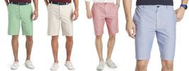 "NEW Mens IZOD Flat-Front Newport Oxford Casual Shorts 10.5"" Inseam MSRP $50 - $25.00"