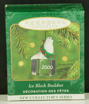 Hallmark Ornament ICE BLOCK BUDDIES White SEAL Miniature New in Box 2000 - $8.95