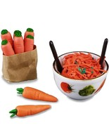 DOLLHOUSE Fresh Carrot Salad Set 1.819/5 Reutter Veggie Pattern Miniature - $22.80
