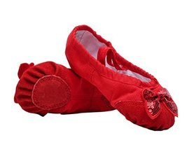 Performance Ballet Shoes/Dance Shoes for Pretty Girl (22CM Length) Red Bowknot