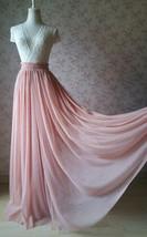 DEEP BLUSH Women Tulle Skirt Blush Floor Length Tulle Skirt Bridesmaid Skirt image 3