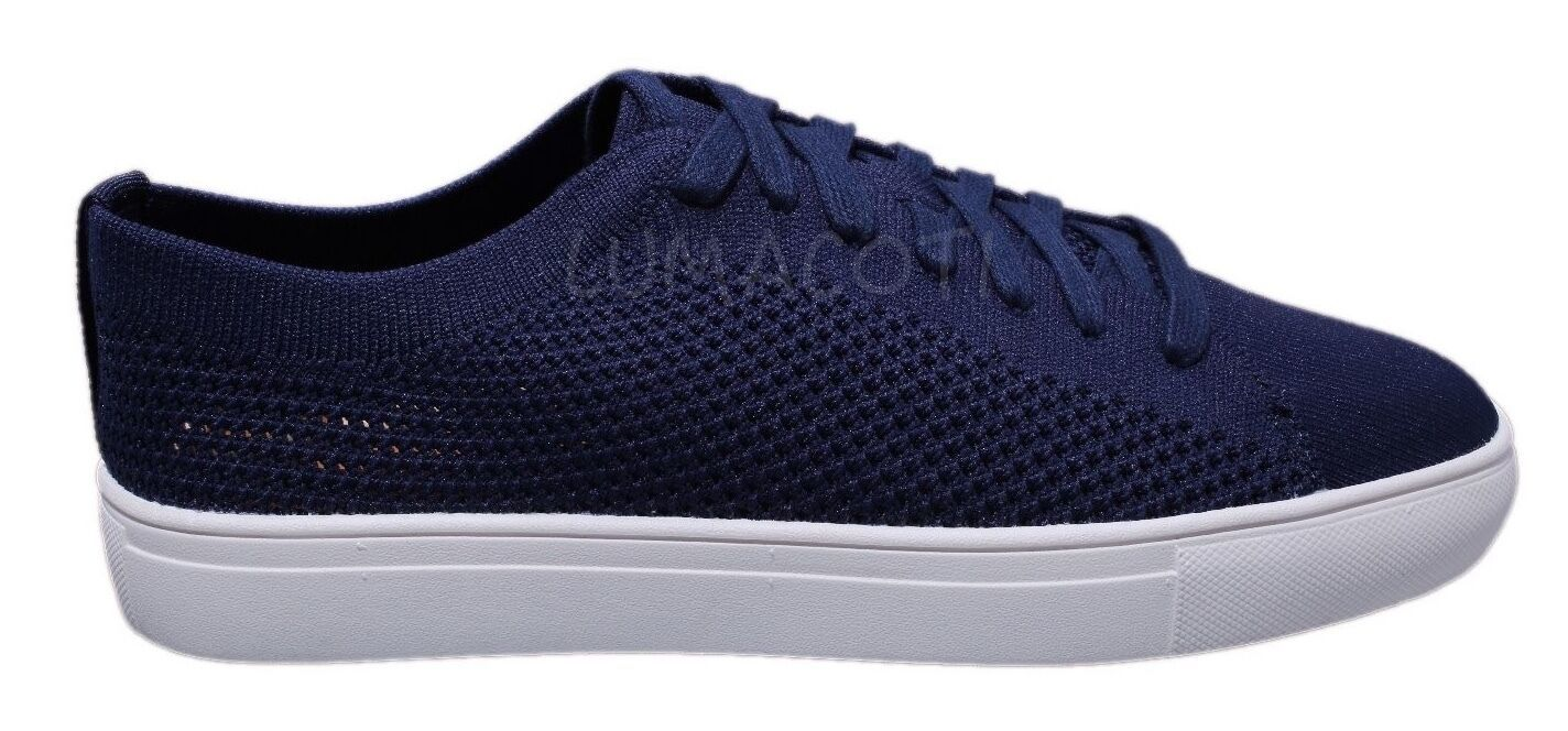 Kenneth Cole Reaction On The Road Mens Navy Knitted Lace Up Fashion Sneakers