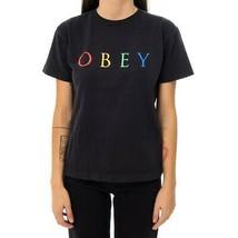 T-SHIRT WOMAN  OBEY NOVEL OBEY 2 CUSTOM BOX 266851274.BRW TEE WOMAN SHOR... - $38.40