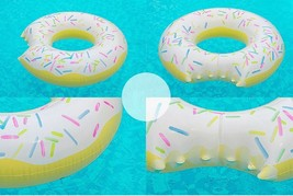 Swim About Large Donut Swim Ring Tube Pool Inflatable Floats for Adults (White) image 2