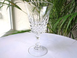 Set of 3 Cris D' Arques Tuilleries Villandry Clear Crystal WATER Goblets - $28.70