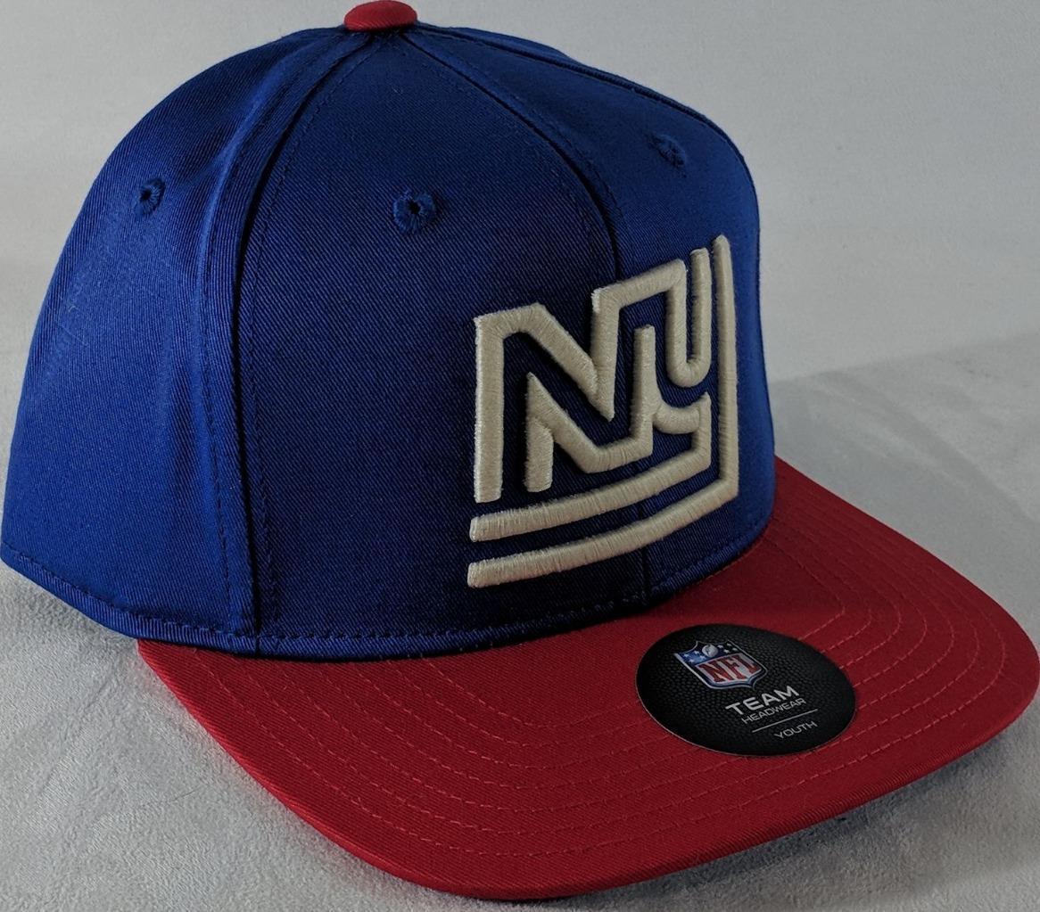 LZ NFL Team Apparel Youth One Size OSFA New York Giants Baseball Hat Cap NEW i10