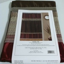 "New Creative Bath  Mystique Fabric Shower curtain earth tone colors 70"" x 72"" - $22.76"