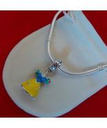 NEW Disney Princess Theme Charm - Snow White's Dress Enamel & silver pla... - $10.99