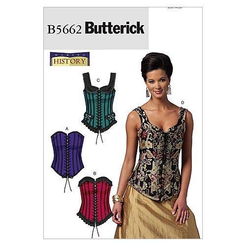 Butterick Patterns B5662 Misses' Corsets, Size A5 (6-8-10-12-14) - $14.70