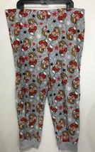 Disney Womens XL Grumpy Snow White 7 Dwarfs Gray Fleece Lounge Pajama Pants - $24.01