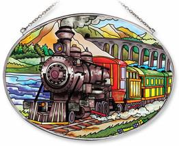 "Train Sun Catcher AMIA Large Oval Hand Painted 6.5"" x 9"" New Railroad Mo... - €30,65 EUR"