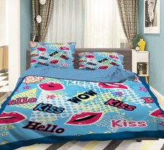 3D Red Lips 370 Bed Pillowcases Quilt Duvet Cover Set Single Queen King ... - $64.32+
