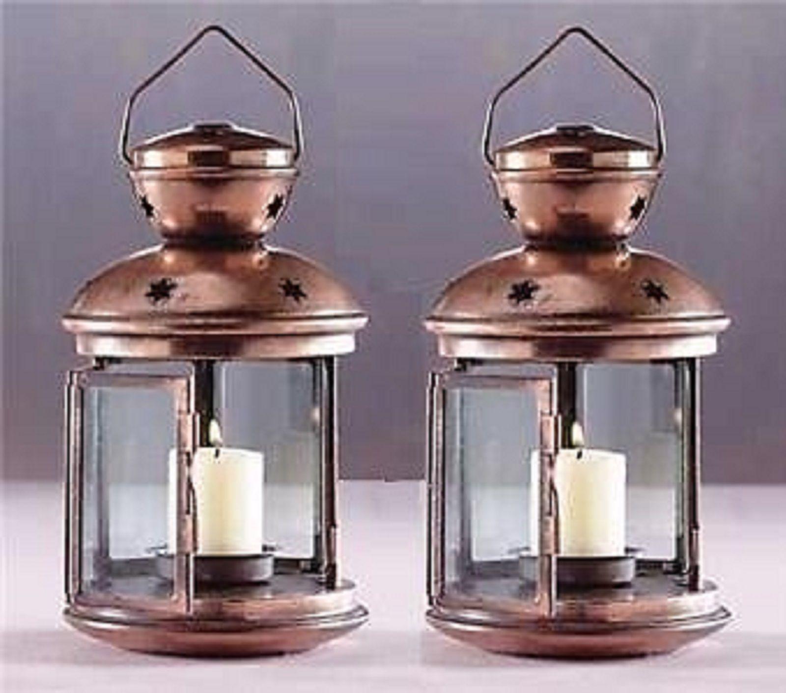 6 Star Lantern Copper Tone Candleholder Wedding Centerpieces - New