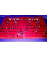 Cookie Exchange Metal Trivets Lot Of 2 Double Christmas Tree Shaped NEW! - $12.86