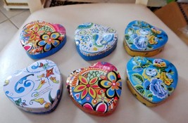 Lot of 6 Brighton heart shaped tins  (lot A) - $12.50