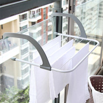 Foldable Drying Rack Multifunctional Hanger Outdoor Balcony Clothes Towe... - $20.46