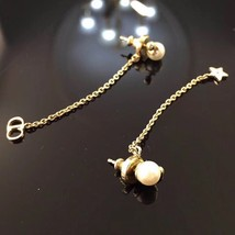 "Authentic Christian Dior ""LA PETITE TRIBALE"" EARRINGS Pearl Dangle Star image 12"